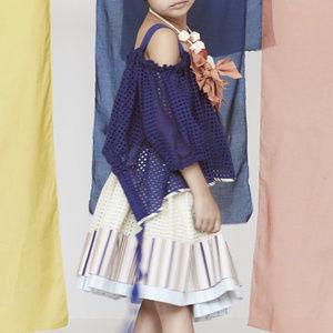 New! TIA CIBANI 5-6 yr Two Tiered Skirt Eyelet